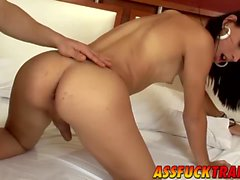 Superb tranny Barbara Vasconcelos loves big cock