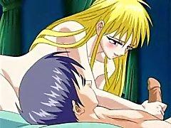Sexy young blondi neito tekee hänen turvoksissa kullia räjähtämään hänen