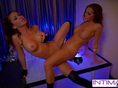 Jessica Jaymes and Abigail mac strip a fuck for you