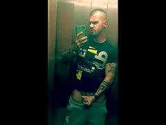 Aufzug abspritzen