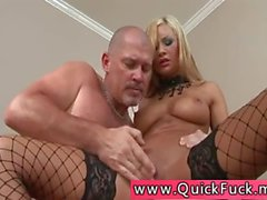 In Fishnets Deep Pussy Fuck