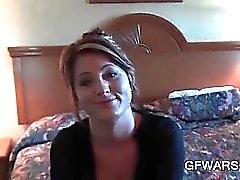 Fábrica -GF caliente teniendo una aventura sexual en un motel de barata
