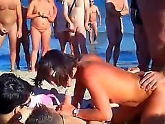 voyeur day in nudist beach!!