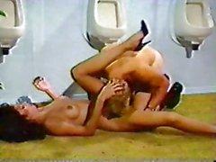 Dana Douglas and 2 Russian Sailors in restroom 80's vid