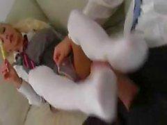 Gorgeous Delta White heißeste Schulmädchen die lollypop zu spielen!