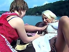 Julie Hunter Threesome on the boat