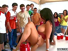 Dorm party with pornstars Diamond Kitty and Alexis Fawx
