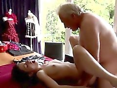 Young thai and older Horny senior Bruce spots a adorable gir
