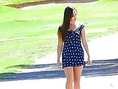 Jenna tetas parque bebé marrón pelo coño