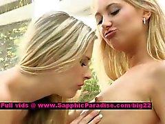 Lena en Claire wellustige lesbische poppen likken