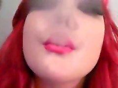 principessa un'infermiera webcam nel fumare