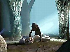 3D tyttö saada kuseen kovaa metsässä Gollum
