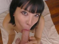 Japanese slut swallowing my cum