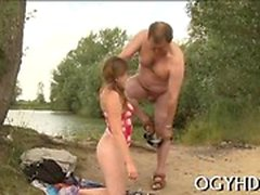 Young sweetie acquires her love tunnel slammed by old dude