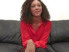 Ebony Babe In The Backroom