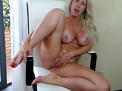 MOM Blonde MILF want you to suck her Milky Boobs
