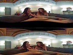 VR Stereoskooppinen 360 - Jennifer White ja Dava Foxxx Jaa kukko VR