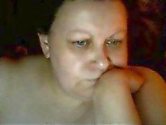 Warm Euro adult madre Karen jugar en skype