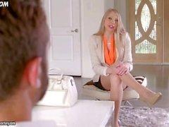 kauan istunna tyttö Shawna Lenee sukkahousuista alkaen tease