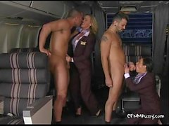 Sexy stewardesses fuck in the airplane to please their best custovTanyaTate02.wm