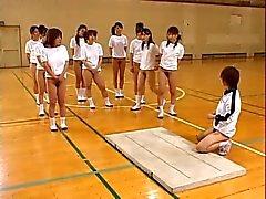 Азиатский подростков Волосатые киски Гидромассажная задницы Stretch Во Gym Class