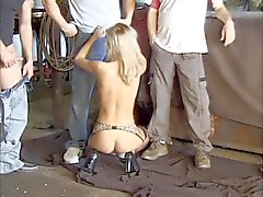 Hot group-sex in the garage