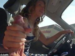 Handjob Car mientras que conduce
