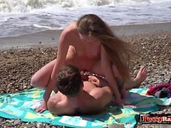 Shaved teen outdoor with facial