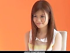 Sexy porn casting with young Asian babe Nao