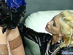 Gloryhole lesbian fisting wet box
