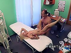 Doctor bangs tattooed blonde in hospital