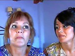 Mutter mit ihre Tochter nicht