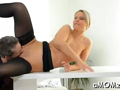 Schlong loving mom gets her arsehole rammed and creampied