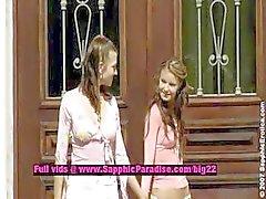 Juliette en Klara en Zoe lesbo poppen likken