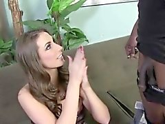 Brunette Babe Paige Turnah Double Penetrated by Black Dicks