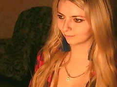 Flawless Blonde Babe Dildo Fuck Her Shaved Pussy