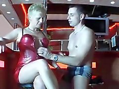 Horny german mature gets fucked in a club