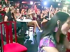 Real CFNM babes suck stripper cock at party