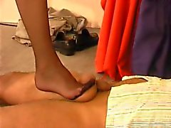 Nylon Foot Worship and Ballbusting