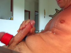 Self suck then wank it all over myself