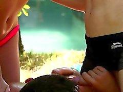 Bisexuell schätzchen Schwanz Lutschen