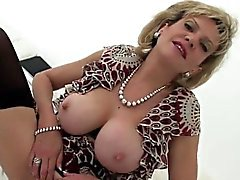 Cheating british mature gill ellis flashes her monster knock
