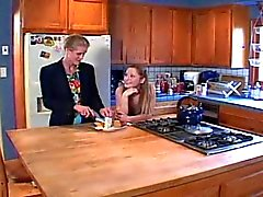 Old MILFs & Young Lesbians - Kitchen Strap On