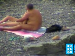 Tâtonner sur la plage