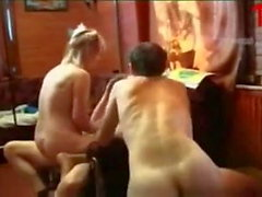 Russian Mom fucked by young boys and step-son