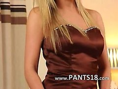 kindje blond lingerie nylon