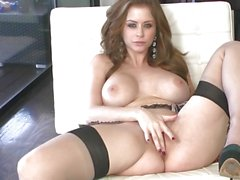 Roasting Emily Addison torments her dripping snatch