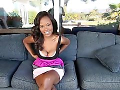 Busty ebony teen bouncing