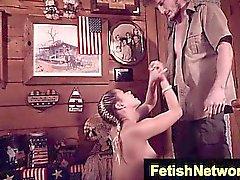 TeensInTheWoods Sally Squirtz cabin bdsm