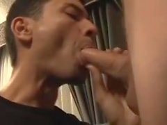 Dude Slurps Down Thick Load